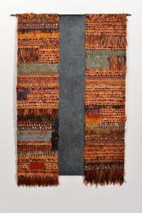Wandbild. Kupfer geschwärzt, Fasan- und Hahn, 90x60cm